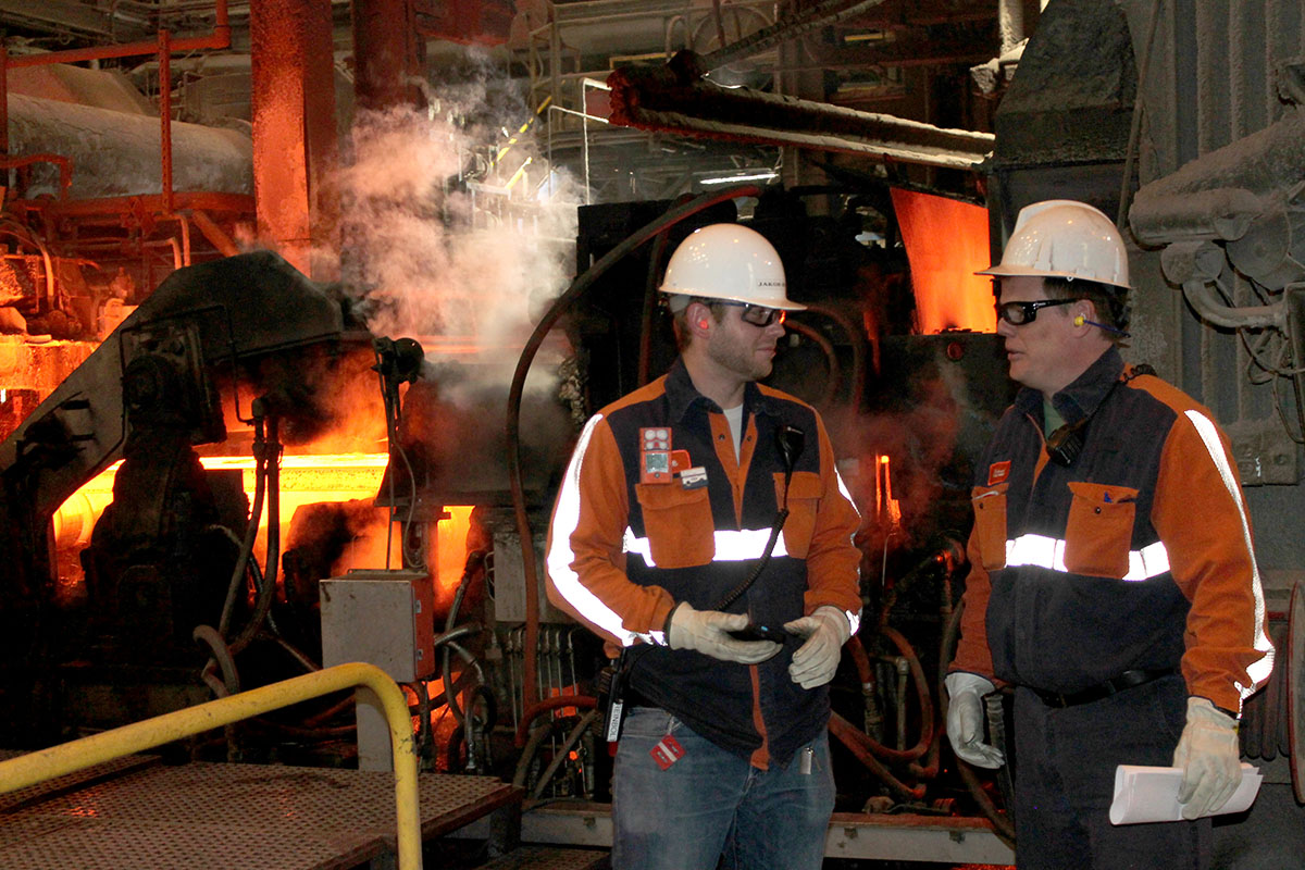 North Star blueScope Steel is applying IBM Watson internet of things technology and wearable devices to pioneer novel approaches to help protect workers in extreme environments. Photo: North Star BlueScope Steel