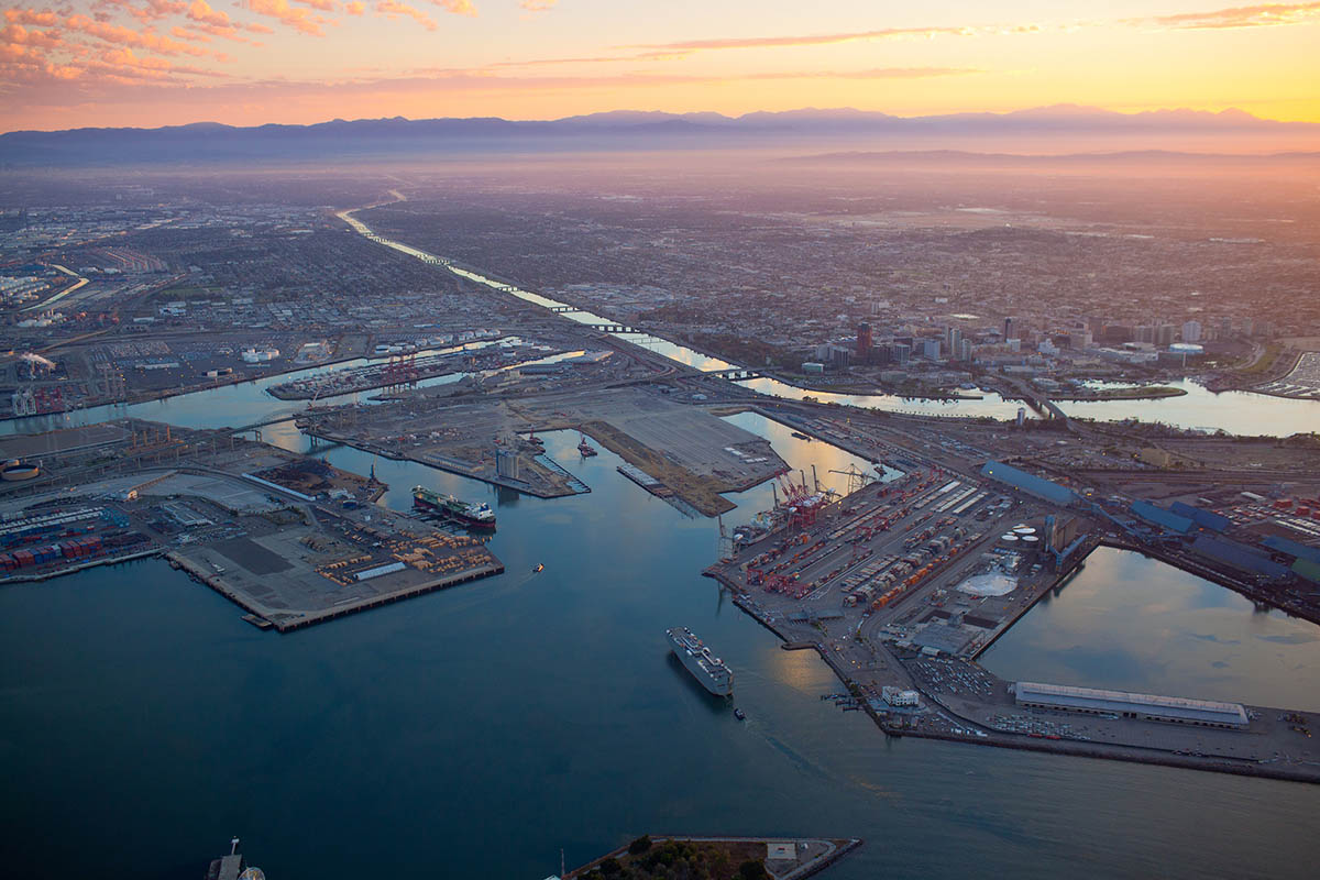 The Port of Long Beach, along with the neighboring Port of Los Angeles, is one of the busiest shipping ports in the U.S. Photo: The Port of Long Beach