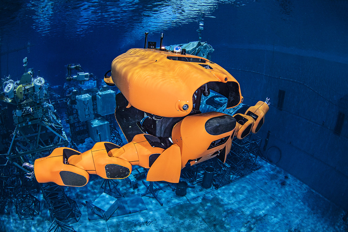 "Houston Mechatronics' Aquanaut is an ""an all-electric underwater transformer."" Photo: Houston Mechatronics"