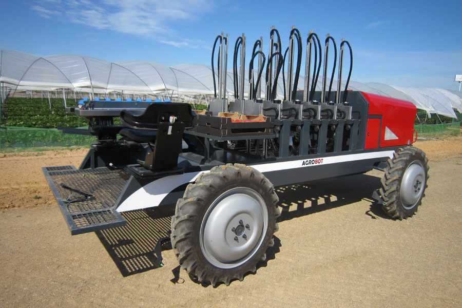 Agrobot is working with berry giant Driscoll's to market its strawberry-picking robot. Photo: Agrobot