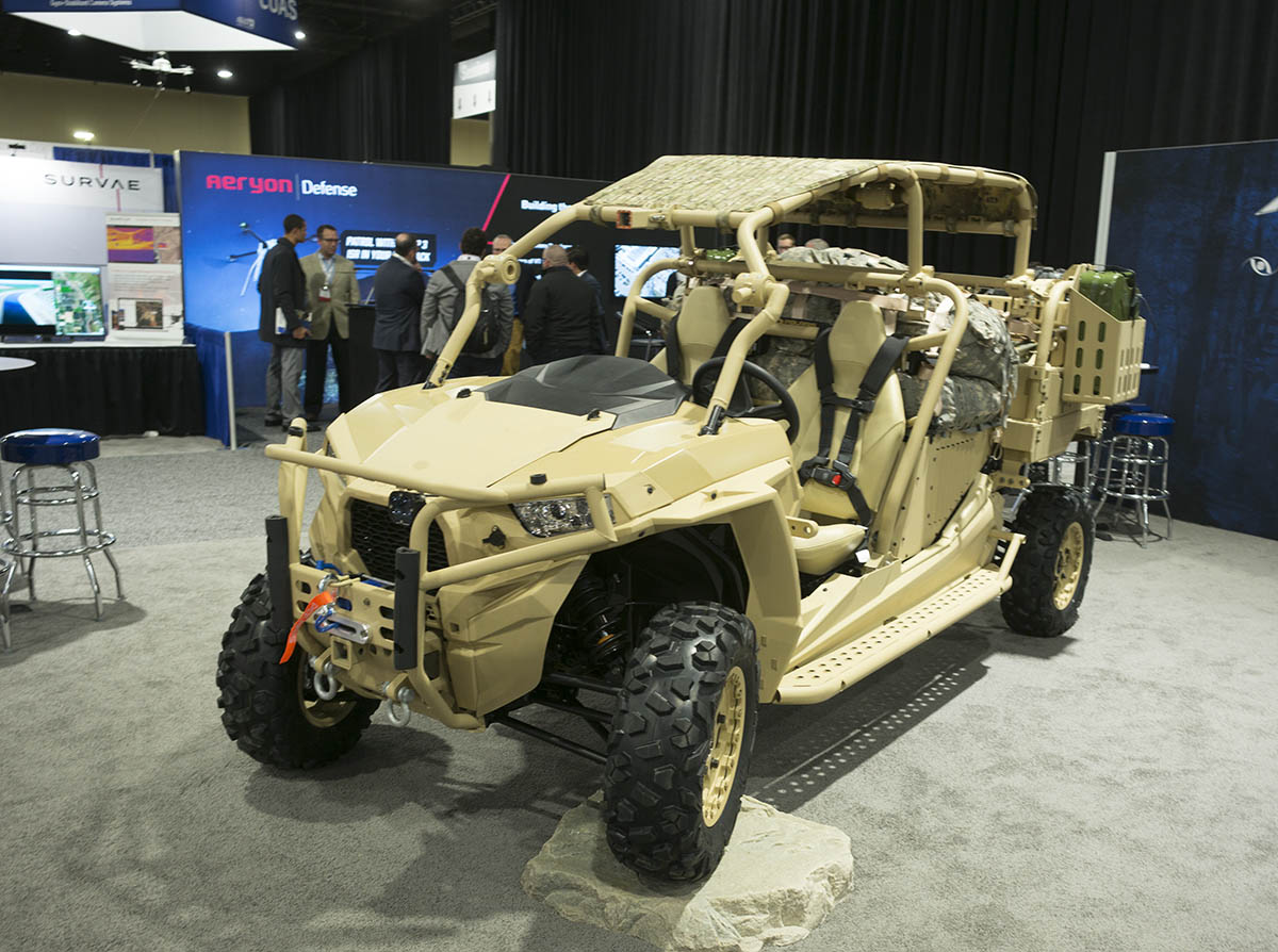 Team Polaris' MRZR X ground vehicle. Photo: AUVSI