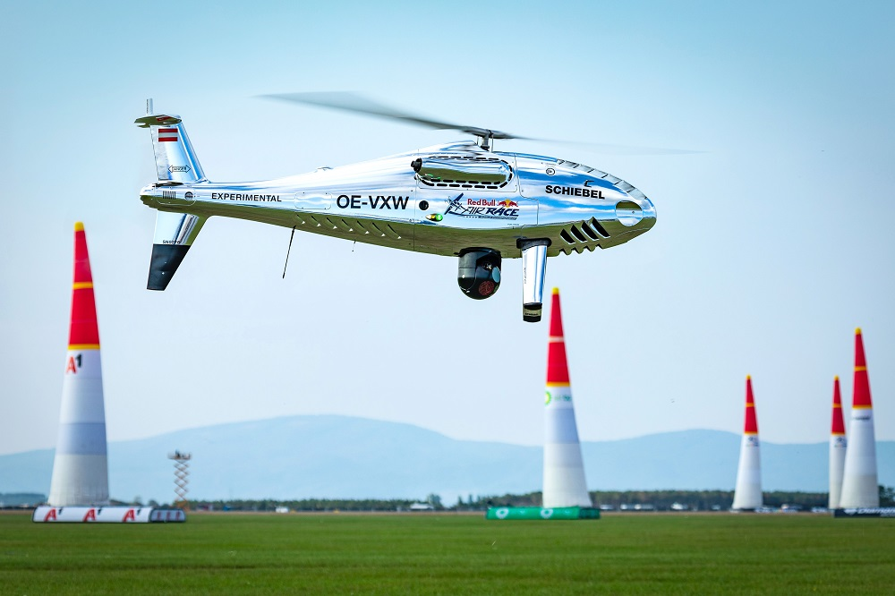 Schiebel's Camcopter S-100 UAS conducts flight display