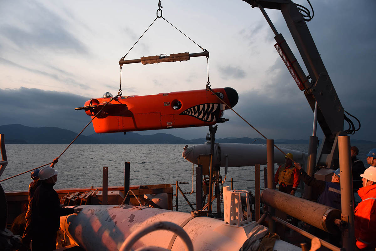 The U.S. Navy is testing unmanned undersea vehicles (UUVs) for countermine operations during open-sea exercises like Foal Eagle off the coast of the Korean peninsula. Photo: U.S. Navy