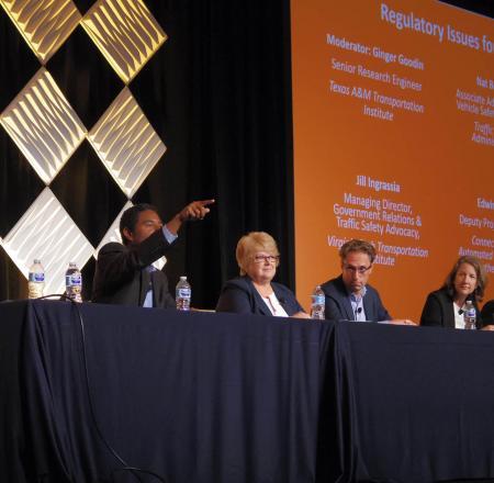 A panel discussion at AVS. Photo: AUVSI