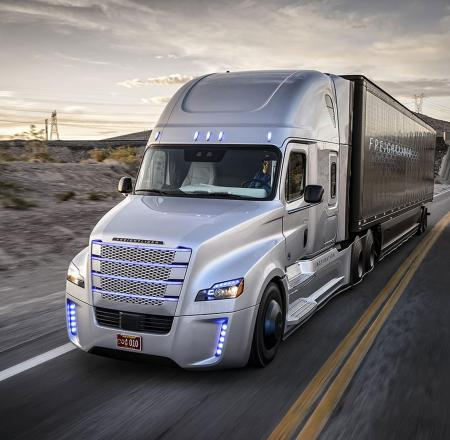 Freightliner offers a variety of driver-assist technologies, including its Highway Pilot system. Photo: Freightliner