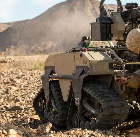 A UGV is tested at Twentynine Palms in California. Photo: USMC