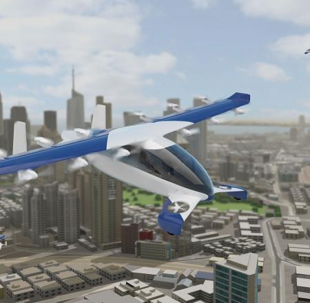 An artist's rendition of the passenger air vehicle concept from Aurora Flight Sciences, now part of Boeing. Photo: Boeing