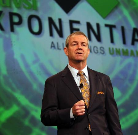 AUVSI President and CEO Brian Wynne speaks at last year's Xponential. Photo: Robb Cohen Photo & Video