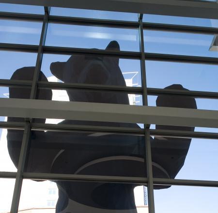The bear sculpture outside the Colorado Convention Center. Photo: AUVSI