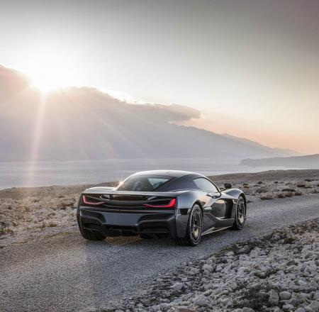 Rimac Automobili's all-electric hypercar, the C_Two, will incorporate Nvidia's Drive AI systems to allow AI-powered driver assist features. Photo: Rimac Automobili