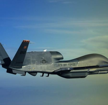 Northrop Grumman has been flight testing the MS-177 sensor, seen here on a Global Hawk. Photo: Northrop Grumman