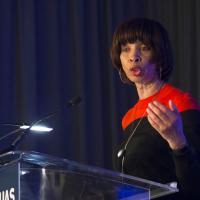 Baltimore Mayor Pugh addresses the FAA UAS Symposium. Photo: AUVSI