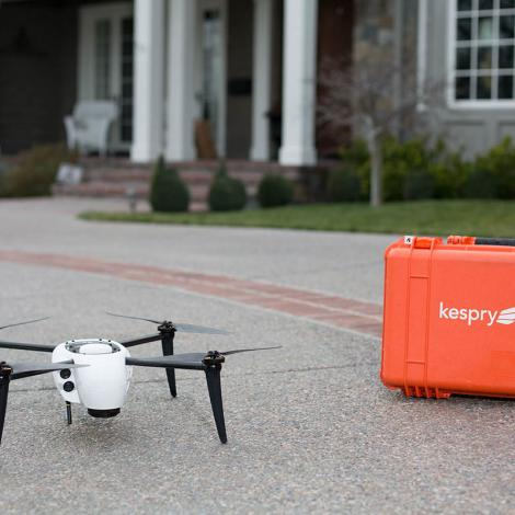 A Kespry drone kit for insurance flights. Photo: Kespry