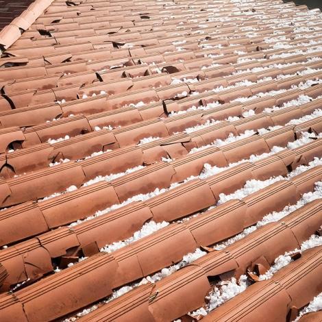 Stock photo of hail damage. iStock-649277542
