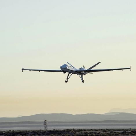 NASA's Ikhana UAS takes off from California to fly into the National Airspace System without a chase plane. Photo: NASA/Ken Ulbrich