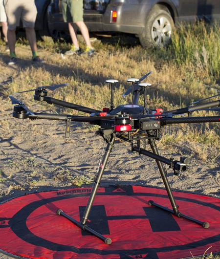 A drone equipped with Iris Automation's sense-and-avoid system. Photo: Iris Automation