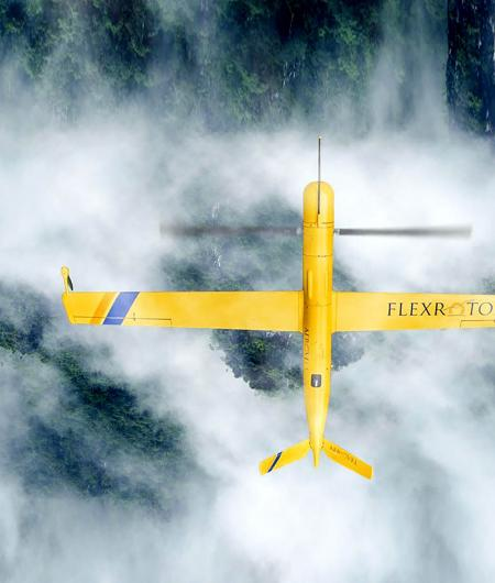 An Aerovel Flexrotor drone flies on a mission for Cherokee Nation Businesses. Photo: CNB