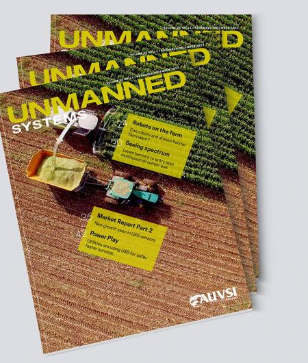 The front cover of the November-December issue of Unmanned Systems magazine.