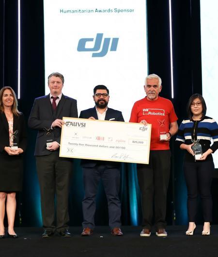 The winners of the AUVSI-DJI Humanitarian Awards. Photo: Becphotography