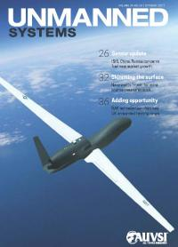 The cover of the October, 2017 issue of AUVSI's Unmanned Systems magazine.