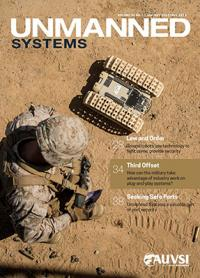 The cover of the January-February 2018 cover of Unmanned Systems magazine.