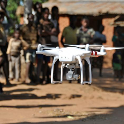 UNICEF is seeking humanitarian drone projects. Photo: UNICEF