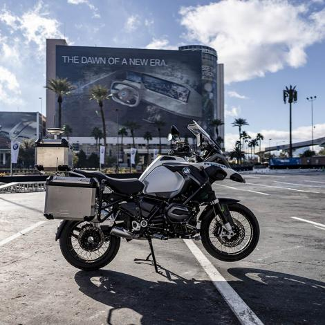 BMW's self-driving R 1200 GS motorcycle. Photo: BMW