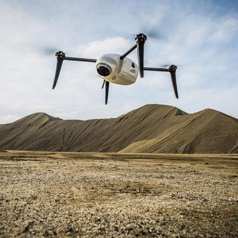 Using an array of sensors, Kespry's UAS can monitor the size and height of coal mine stockpiles. Photo: Kespry
