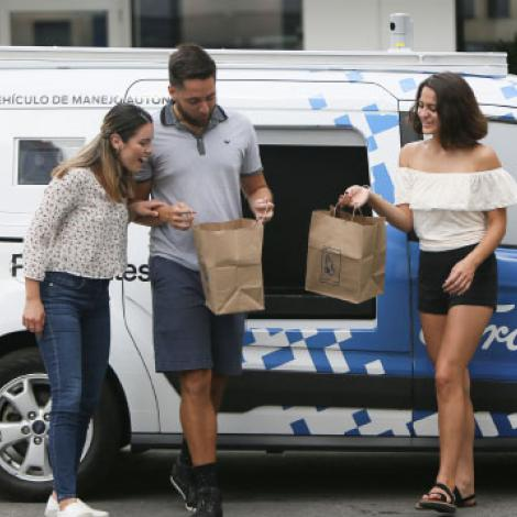 Ford plans to start AVs in fleet work first, such as for grocery delivery. Photo: Ford
