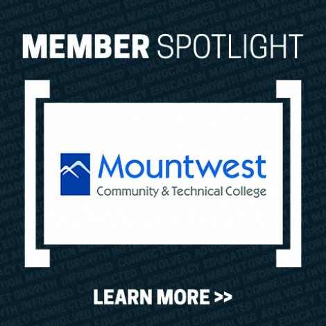 Member Spotlight Image with Mountwest Community and Technical College logo