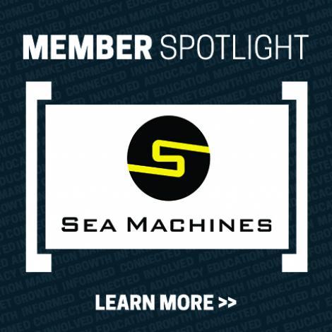Member Spotlight Graphic with Sea Machines Robotics Logo